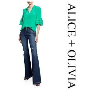 Alice + Olivia Julius Tiered-Sleeve Tunic Top
